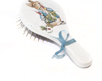 Peter Rabbit Gift Peter Rabbit Baby Shower Personalized Comb First Birthday Gift Baby Hairbrush One year Old Boy Peter Rabbit Party Favors