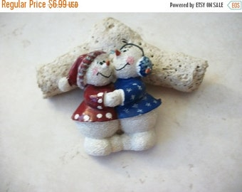 ON SALE Vintage Over Sized Snowman Christmas Pin 82116