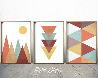 Geometric Art Prints Geometric Wall Art Geometric Art Nordic Print Scandinavian Art Geometric Decor Geometric wall art Print Styler
