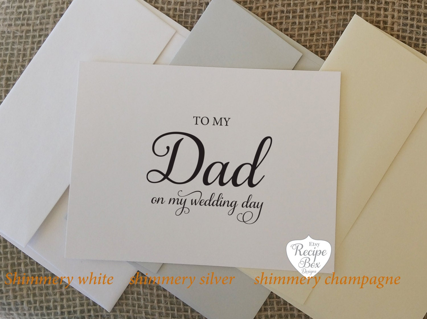 To my Dad on My Wedding Day Mom Mother and Father inlaw Parents Mom ...