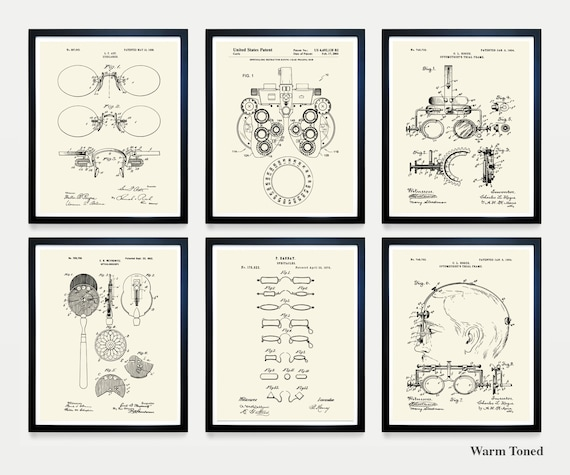 Ophthalmology Patent Art - Optometry Patent Art - Optometrist Poster - Optician - Optics - Glasses - Spectacles - Vision - Eye Doctor