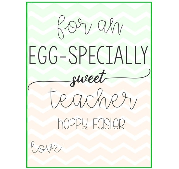 Eggspecially sweet teacher tag easter tags easter gift eggspecially sweet teacher tag easter tags easter gift tags easter printable tags hoppy easter digital easter bunny tag negle
