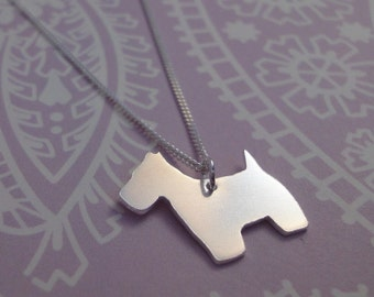 Silver Scottie Dog Necklace
