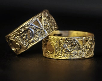 The Ruins Ring Solid White 14k Gold