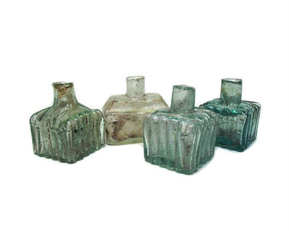 """2.5"""" Antique Glass Ink Bottle Collection"""
