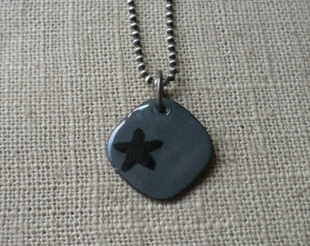 Steel Grey Star Necklace