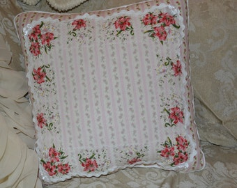 Handmade Pillow Vintage Handkerchief Wallpaper Stripe Cushion