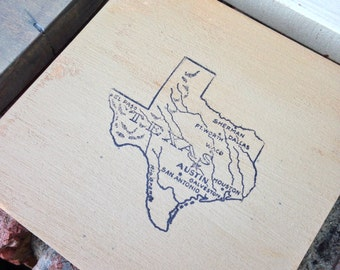 Rustic Texas Coasters Multi-color Set of Four MADE TO ORDER