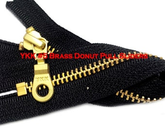 Fancy YKK Metal Zipper for Bags & Exposed Zippers~ Pick your type of slider and Length~ZipperStop Wholesale Authorized Distributor YKK®