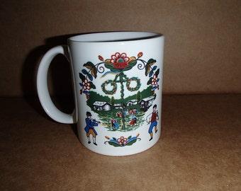 Scandinavian Swedish Dancers or Maypole Coffee Tea Mug