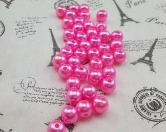 20 bead pink size 8 mm
