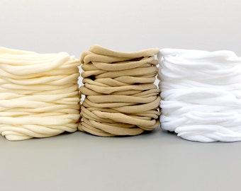 Nylon Baby Headbands, Stretchy Nylon Headbands, One Size Fits All, Skinny Headbands, DIY Baby Headbands, Wholesale Nylon Headbands, Bulk