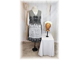 Ethnic / Bavarian / Dirndl / Oktoberfest / Folk Costume / Gretel Style Costume-large-X-Large (J13)