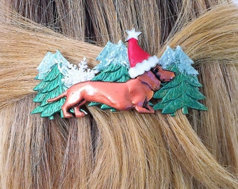 Hair Barrette Dachshund