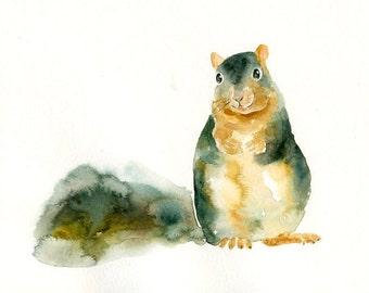 SQUIRREL 10x8inch print-Children's Decor-Art for Children-kids wall art-Nursery art -Animal lover