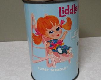 LIDDLE KIDDLES THERMOS, 1969, Original Drinking Cap, Vintage Vinyl Lunchbox Piece