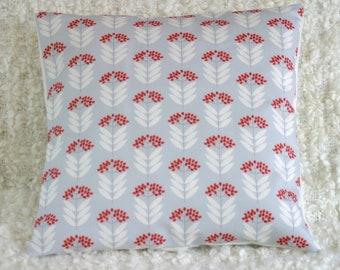 Pale Blue Elderberry cushion cover throw pillow sham