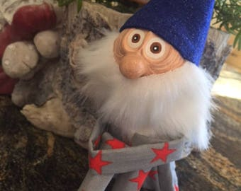Blue Gnome Knee Hugger Doll