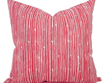 Coral Throw Pillows - Pillows - Coral Stripe Decorative Throw Pillows - Couch Pillows - Accent Pillow - Coral Pillows