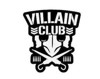 The Villain Club Marty Scurll The Bullet Club Elite Vinyl Car Decal NJPW ROH WWE