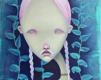 Choker - original oil painting on canvas