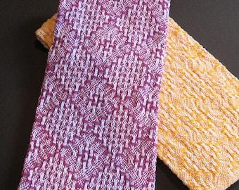 2 Handwoven Hand Towels