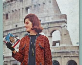 Vintage Knitting Patterns Book 1960s Emu Continental Classics women's men's sweaters cardigans jacket suit dress 60s original patterns UK