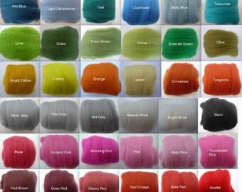 Heidifeathers Merino Wool Tops - Choose the Colour