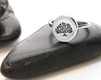 Tree Ring, Tree Jewelry, Tree Rings, Silver Ring, Tree, Silver Tree Ring, Family Tree Ring, Tree of Life, Tree of Life Jewelry, r246s