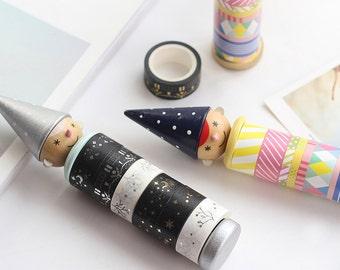 Hat Boy Wood Tape Base Washi Masking Tape Base Tape Dispenser