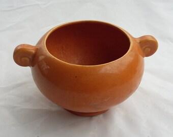 Ceramic Burnt Orange Planter Container