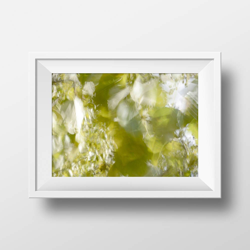 Printable Green Leaves Abstract Tree Leaves Instant Download