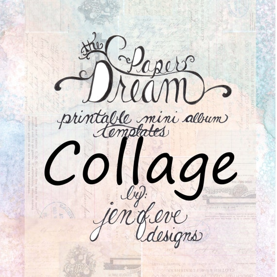 The Paper Dream Printable Mini Album Templates in Collage and Plain