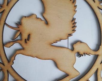 Pegasus laser cut plywood