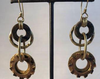 Hardware Earrings - Vintage Elements - Steampunk - Industrial