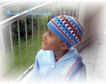 BE EASY - Multicolored crocheted beanie (Small)