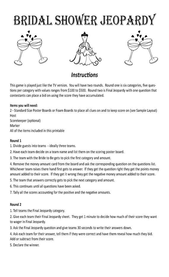 Sex and the city trivia game instructions