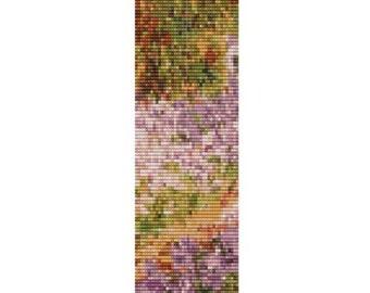 Slice of Iris In Monet's Garden cuff, pattern for loom or peyote
