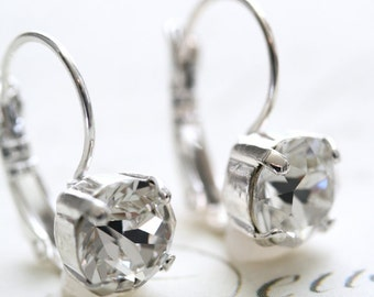 Swarovski Crystal Earrings, Crystal Earrings, Clear Diamond, 39ss Earrings, Swarovski Earrings, Bridesmaid Earrings