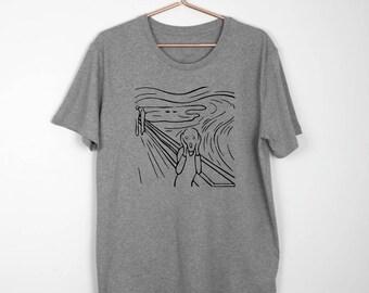 SCREAM ART Tshirt Men's Women's Tee Gift For Painter Art Lover Artist T-Shirt Edvard Munch Oil Painting Interpretation Art History