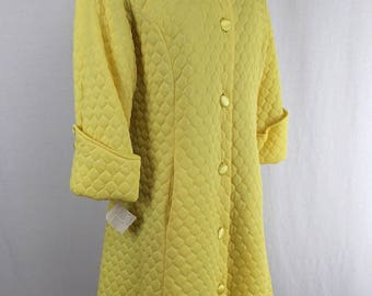 Lounges Quilted Robe Yellow NOS