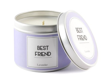BEST FRIEND Candle, Scented candle, Bestie Gift, Friendship Presents, Birthday Gift for Friend, Lavender gift, Gift for Woman, Friend candle