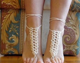 Barefoot sandals, beach wedding barefoot, beach wedding accessories, bridesmaid sandals