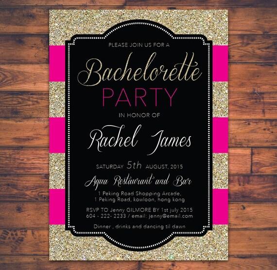 PRINTABLE Bachelorette Party Invitation Card Hen Party Faux - Template for bachelorette party invitations