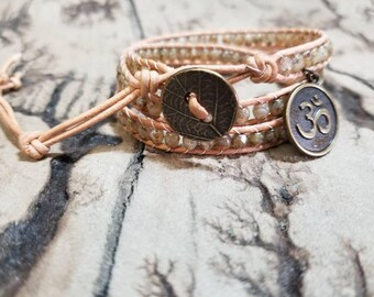 Om  3x Adjustable leather wrap