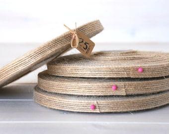 """Natural Burlap Ribbon - 25 Yards of Natural Jute Ribbon -  3/8"""" Wide - Jute Ribbon - Natural Burlap Ribbon - Wedding Ribbons - DIY Weddings"""