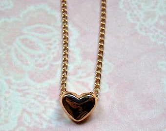 Discreet Gold necklace Small Heart