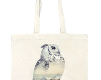 Owl Tote Bag - Faunascapes by WhatWeDo