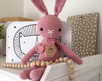 Ready to Ship! Crochet Rabbit Pink (big)
