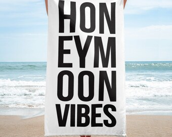 Honeymoon Vibes Beach Towel, Honeymoon Vibes Towel, Honeymoon Gifts, Honeymoon Towel, Bride Beach Towel, Bride Beach Towels, Bridal Shower